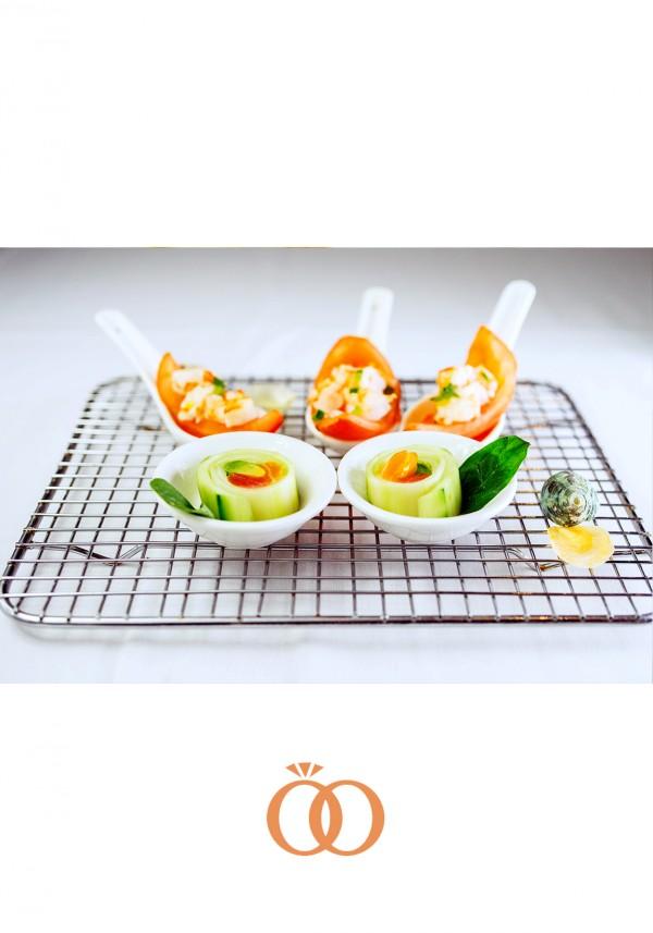 Seafood Tomatoes and Cucumber Sashimi
